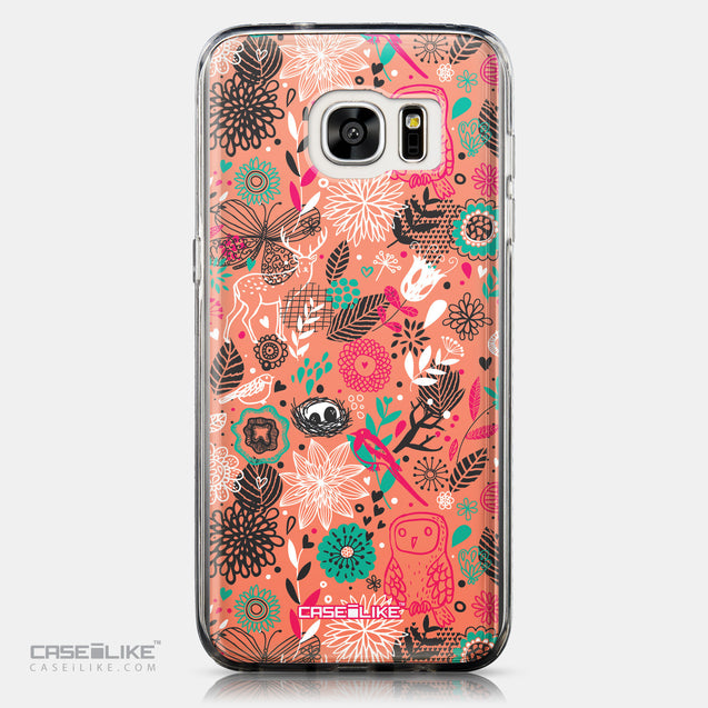 CASEiLIKE Samsung Galaxy S7 Edge back cover Spring Forest Pink 2242