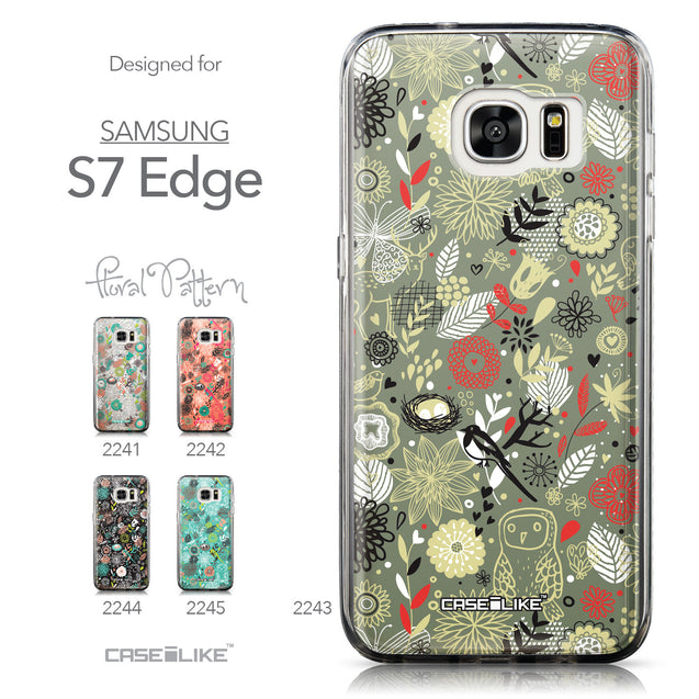 Collection - CASEiLIKE Samsung Galaxy S7 Edge back cover Spring Forest Gray 2243