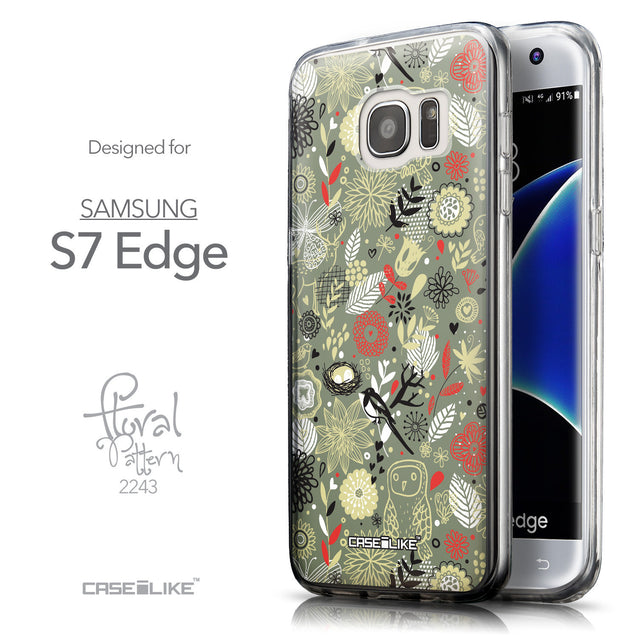 Front & Side View - CASEiLIKE Samsung Galaxy S7 Edge back cover Spring Forest Gray 2243