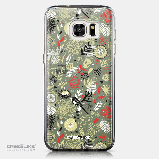 CASEiLIKE Samsung Galaxy S7 Edge back cover Spring Forest Gray 2243