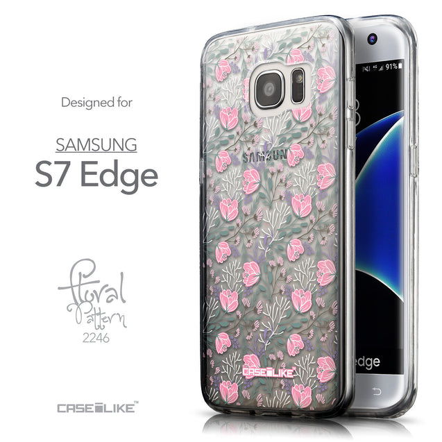 Front & Side View - CASEiLIKE Samsung Galaxy S7 Edge back cover Flowers Herbs 2246