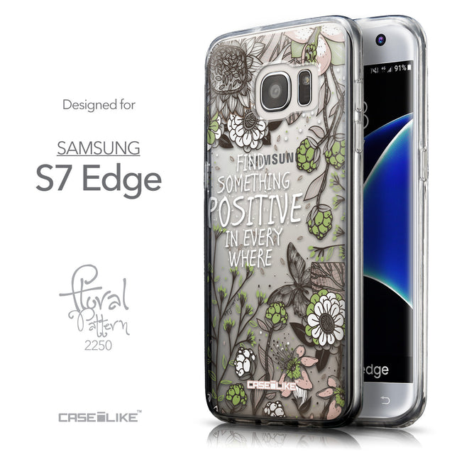 Front & Side View - CASEiLIKE Samsung Galaxy S7 Edge back cover Blooming Flowers 2250