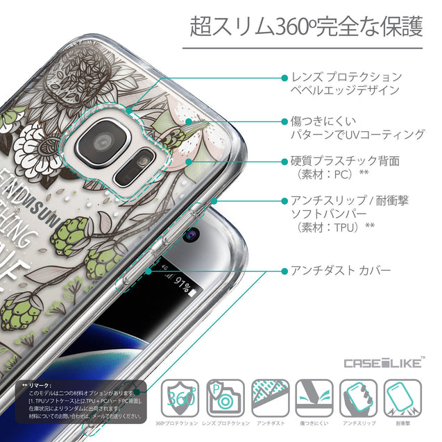 Details in Japanese - CASEiLIKE Samsung Galaxy S7 Edge back cover Blooming Flowers 2250