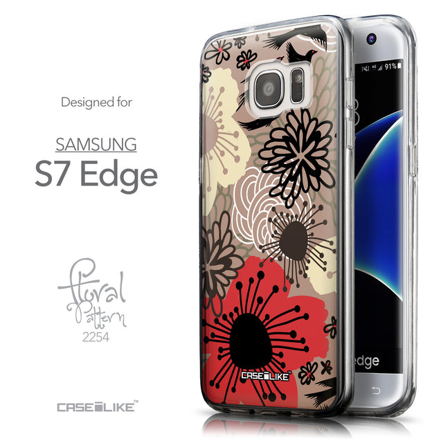 Front & Side View - CASEiLIKE Samsung Galaxy S7 Edge back cover Japanese Floral 2254