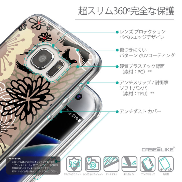 Details in Japanese - CASEiLIKE Samsung Galaxy S7 Edge back cover Japanese Floral 2254