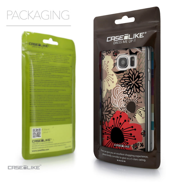 Packaging - CASEiLIKE Samsung Galaxy S7 Edge back cover Japanese Floral 2254