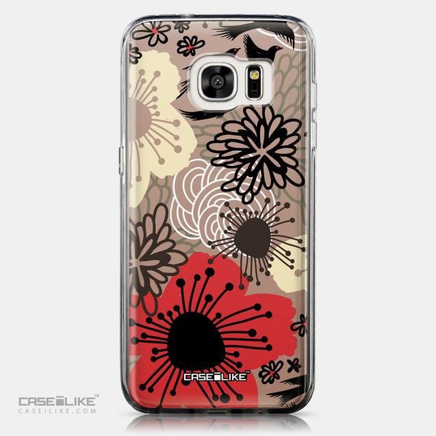 CASEiLIKE Samsung Galaxy S7 Edge back cover Japanese Floral 2254