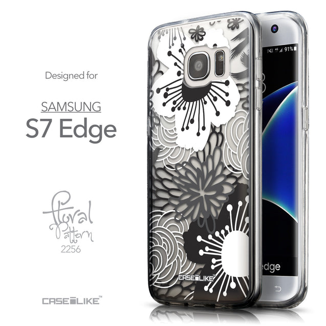 Front & Side View - CASEiLIKE Samsung Galaxy S7 Edge back cover Japanese Floral 2256