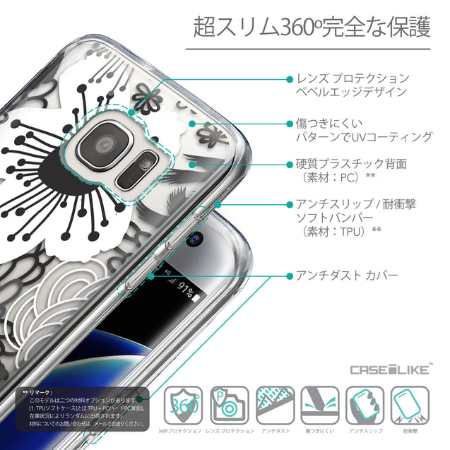 Details in Japanese - CASEiLIKE Samsung Galaxy S7 Edge back cover Japanese Floral 2256