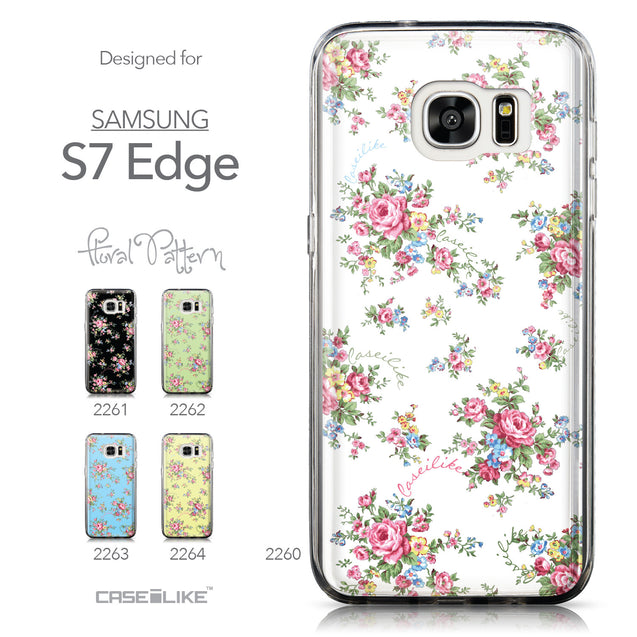 Collection - CASEiLIKE Samsung Galaxy S7 Edge back cover Floral Rose Classic 2260