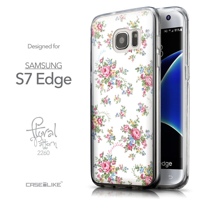 Front & Side View - CASEiLIKE Samsung Galaxy S7 Edge back cover Floral Rose Classic 2260