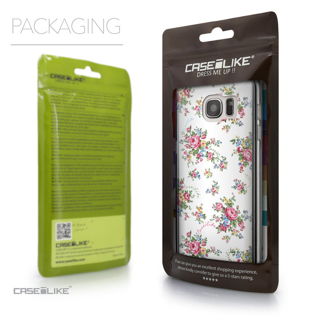 Packaging - CASEiLIKE Samsung Galaxy S7 Edge back cover Floral Rose Classic 2260