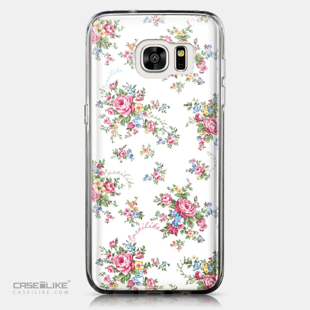 CASEiLIKE Samsung Galaxy S7 Edge back cover Floral Rose Classic 2260
