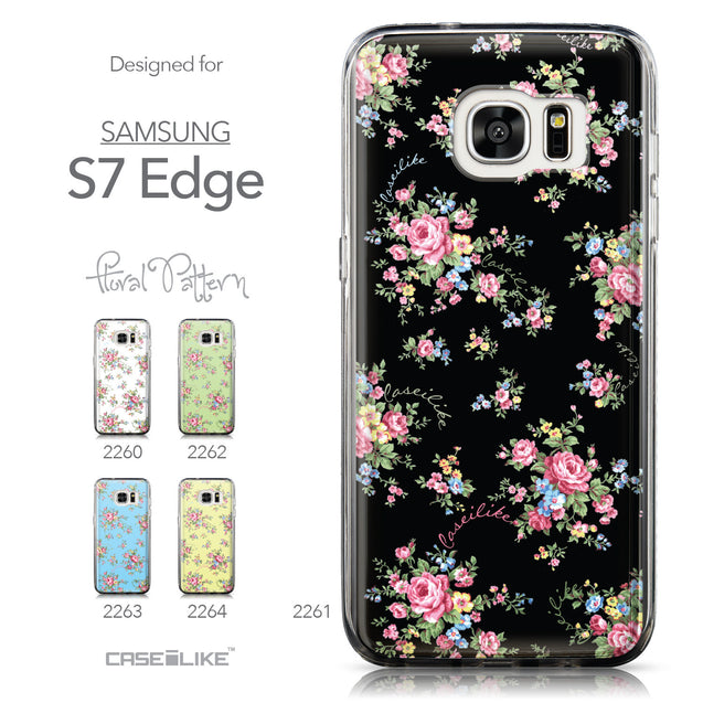 Collection - CASEiLIKE Samsung Galaxy S7 Edge back cover Floral Rose Classic 2261