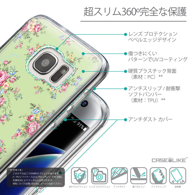 Details in Japanese - CASEiLIKE Samsung Galaxy S7 Edge back cover Floral Rose Classic 2262