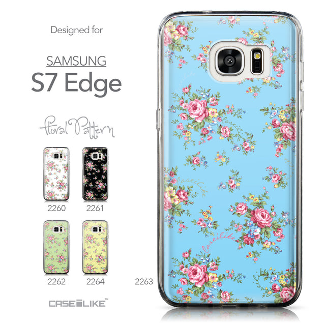 Collection - CASEiLIKE Samsung Galaxy S7 Edge back cover Floral Rose Classic 2263