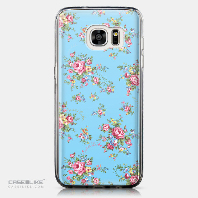CASEiLIKE Samsung Galaxy S7 Edge back cover Floral Rose Classic 2263
