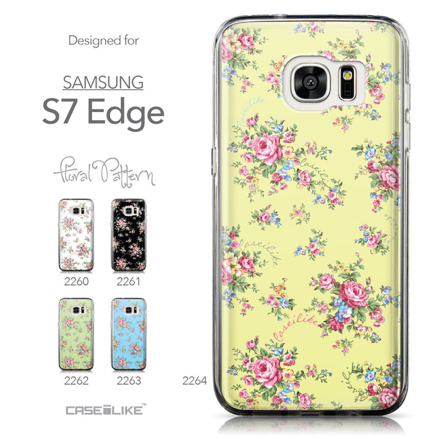 Collection - CASEiLIKE Samsung Galaxy S7 Edge back cover Floral Rose Classic 2264