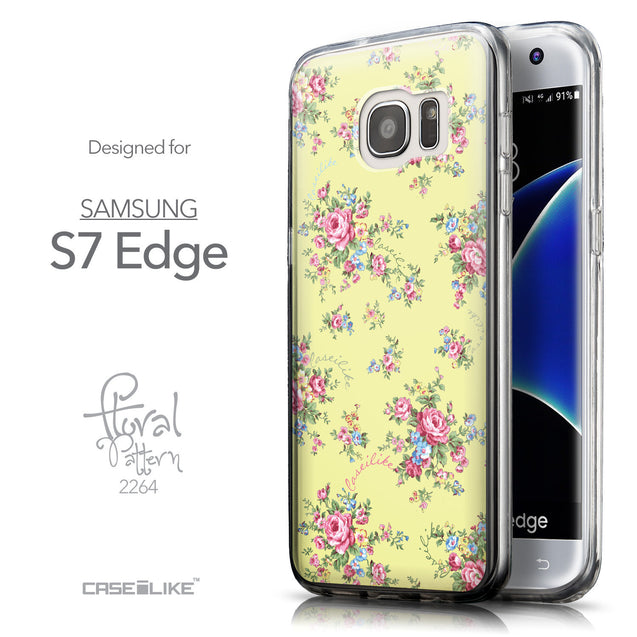 Front & Side View - CASEiLIKE Samsung Galaxy S7 Edge back cover Floral Rose Classic 2264
