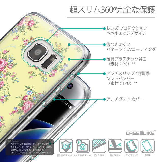 Details in Japanese - CASEiLIKE Samsung Galaxy S7 Edge back cover Floral Rose Classic 2264