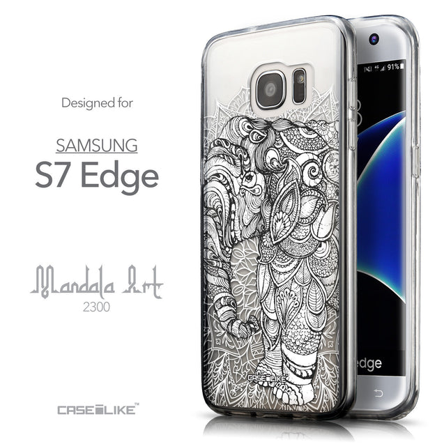 Front & Side View - CASEiLIKE Samsung Galaxy S7 Edge back cover Mandala Art 2300