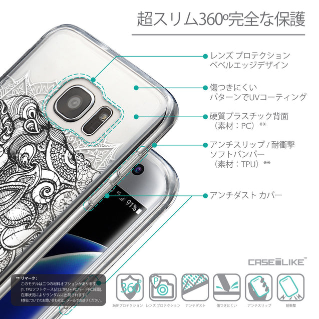 Details in Japanese - CASEiLIKE Samsung Galaxy S7 Edge back cover Mandala Art 2300