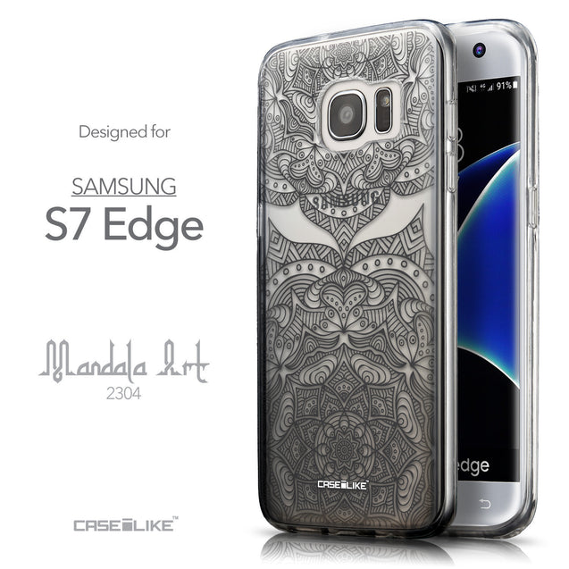 Front & Side View - CASEiLIKE Samsung Galaxy S7 Edge back cover Mandala Art 2304