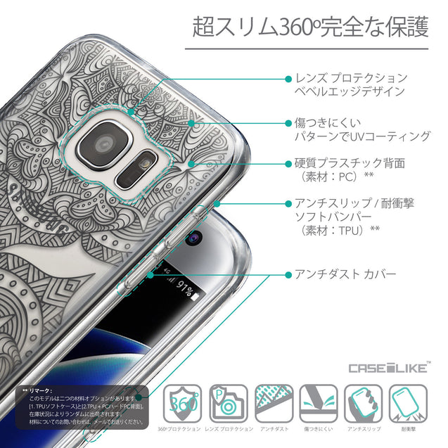 Details in Japanese - CASEiLIKE Samsung Galaxy S7 Edge back cover Mandala Art 2304