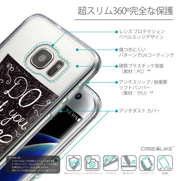 Details in Japanese - CASEiLIKE Samsung Galaxy S7 Edge back cover Quote 2400