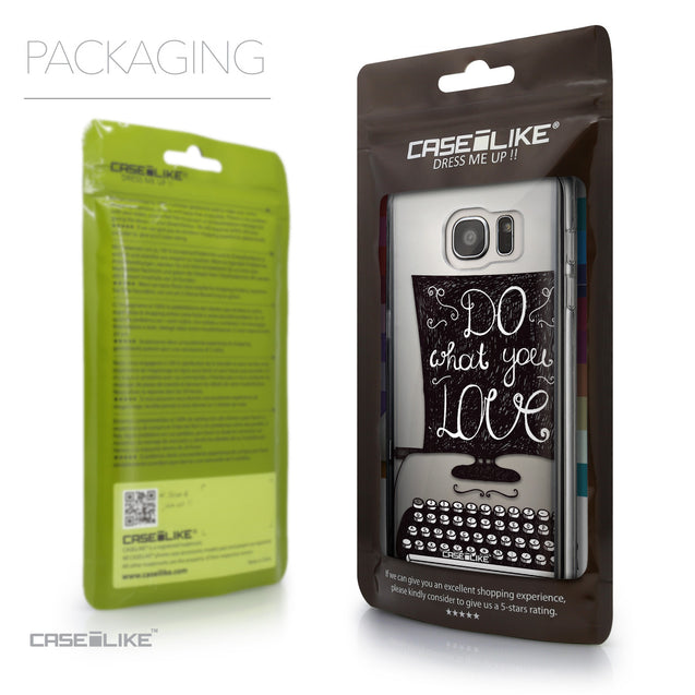 Packaging - CASEiLIKE Samsung Galaxy S7 Edge back cover Quote 2400