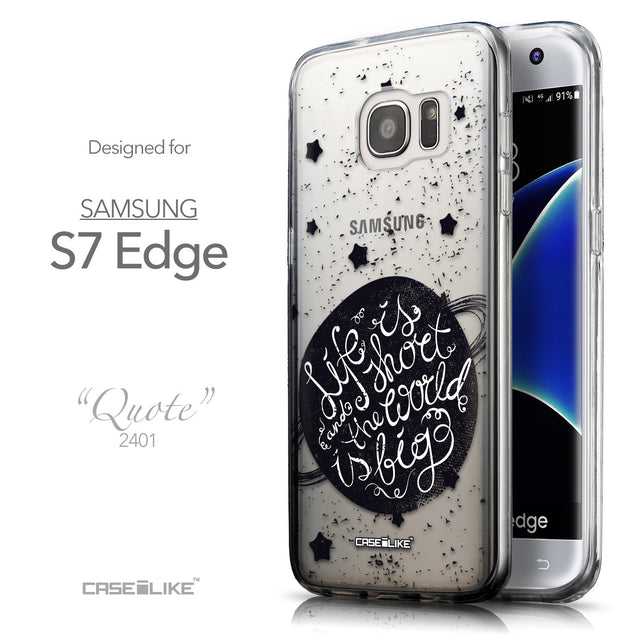 Front & Side View - CASEiLIKE Samsung Galaxy S7 Edge back cover Quote 2401