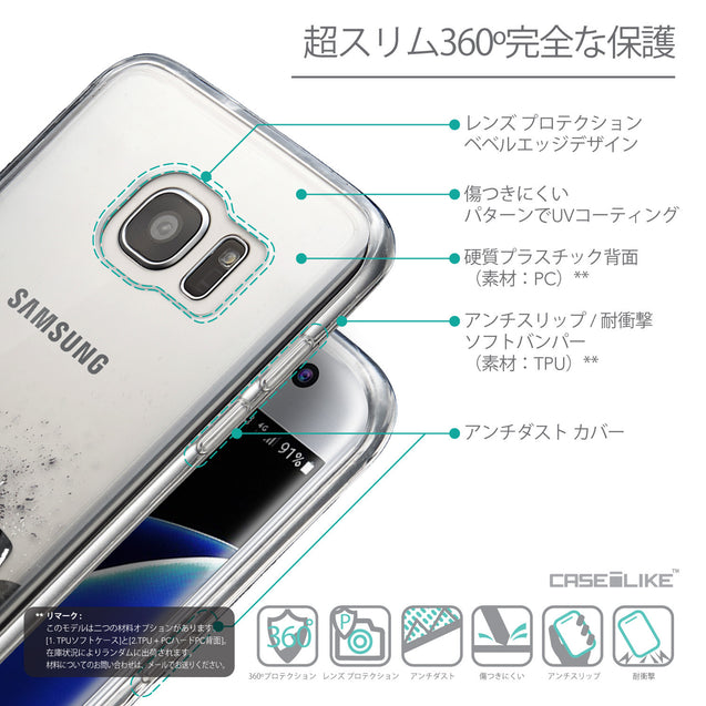 Details in Japanese - CASEiLIKE Samsung Galaxy S7 Edge back cover Quote 2402