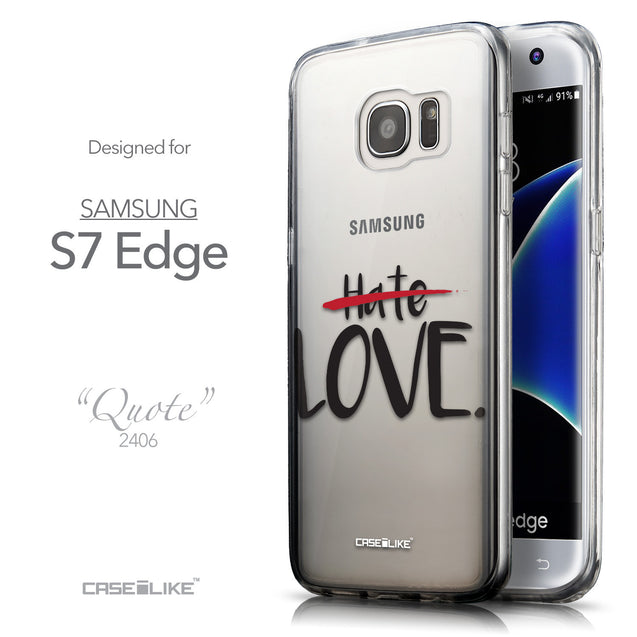 Front & Side View - CASEiLIKE Samsung Galaxy S7 Edge back cover Quote 2406