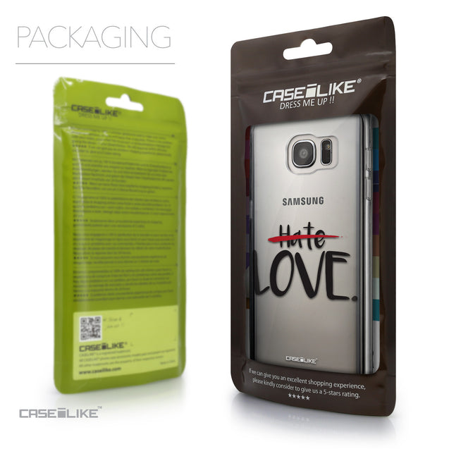 Packaging - CASEiLIKE Samsung Galaxy S7 Edge back cover Quote 2406