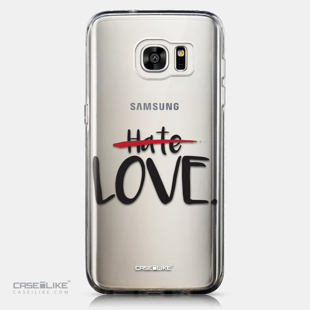 CASEiLIKE Samsung Galaxy S7 Edge back cover Quote 2406