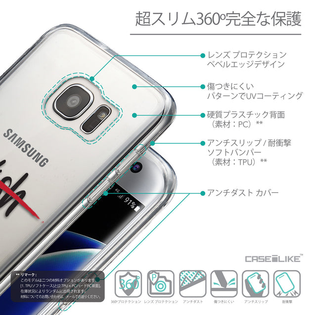 Details in Japanese - CASEiLIKE Samsung Galaxy S7 Edge back cover Quote 2407