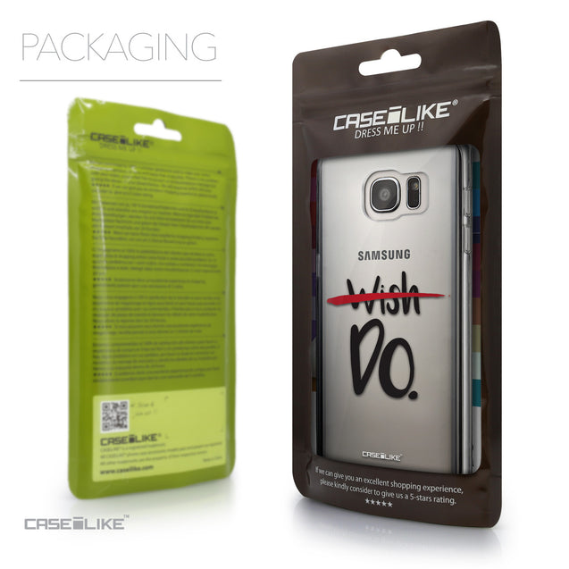Packaging - CASEiLIKE Samsung Galaxy S7 Edge back cover Quote 2407