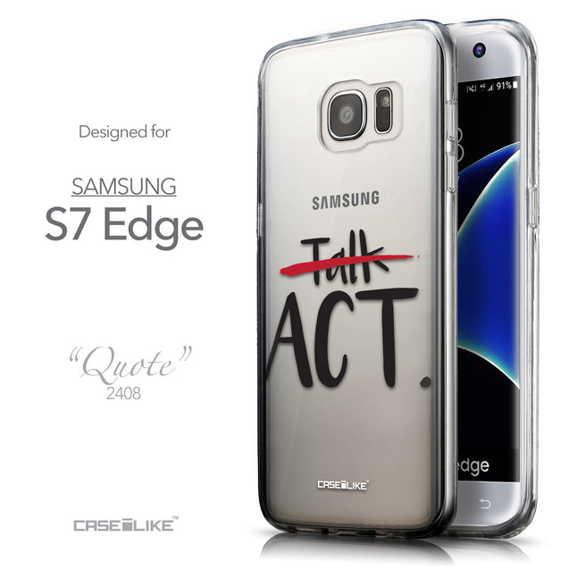 Front & Side View - CASEiLIKE Samsung Galaxy S7 Edge back cover Quote 2408