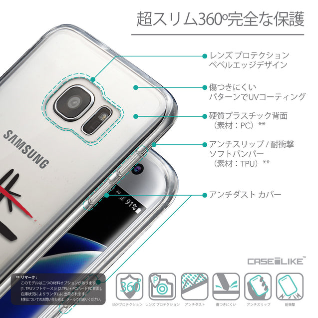 Details in Japanese - CASEiLIKE Samsung Galaxy S7 Edge back cover Quote 2408