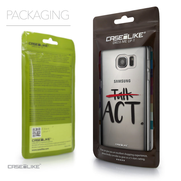 Packaging - CASEiLIKE Samsung Galaxy S7 Edge back cover Quote 2408