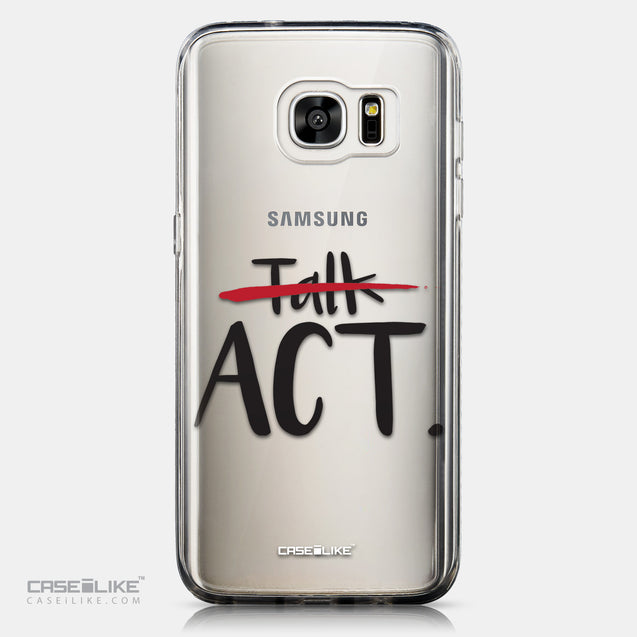 CASEiLIKE Samsung Galaxy S7 Edge back cover Quote 2408