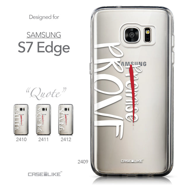 Collection - CASEiLIKE Samsung Galaxy S7 Edge back cover Quote 2409