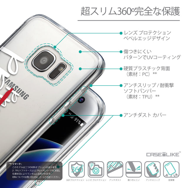 Details in Japanese - CASEiLIKE Samsung Galaxy S7 Edge back cover Quote 2409