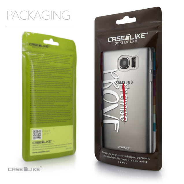 Packaging - CASEiLIKE Samsung Galaxy S7 Edge back cover Quote 2409