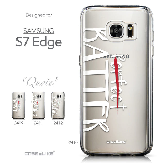 Collection - CASEiLIKE Samsung Galaxy S7 Edge back cover Quote 2410