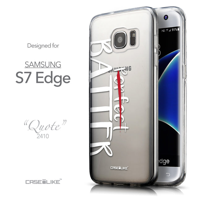Front & Side View - CASEiLIKE Samsung Galaxy S7 Edge back cover Quote 2410