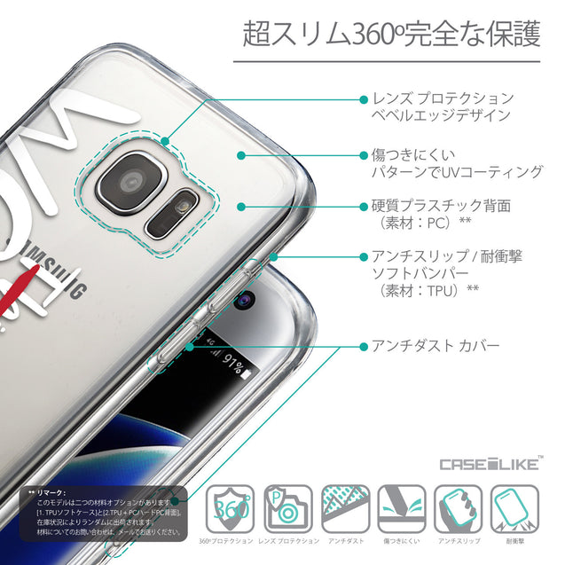 Details in Japanese - CASEiLIKE Samsung Galaxy S7 Edge back cover Quote 2411