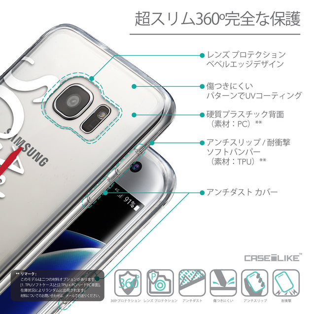 Details in Japanese - CASEiLIKE Samsung Galaxy S7 Edge back cover Quote 2412