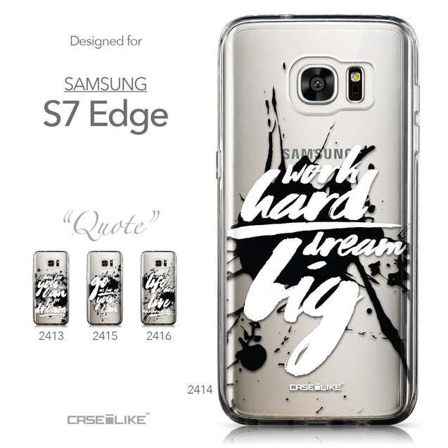Collection - CASEiLIKE Samsung Galaxy S7 Edge back cover Quote 2414