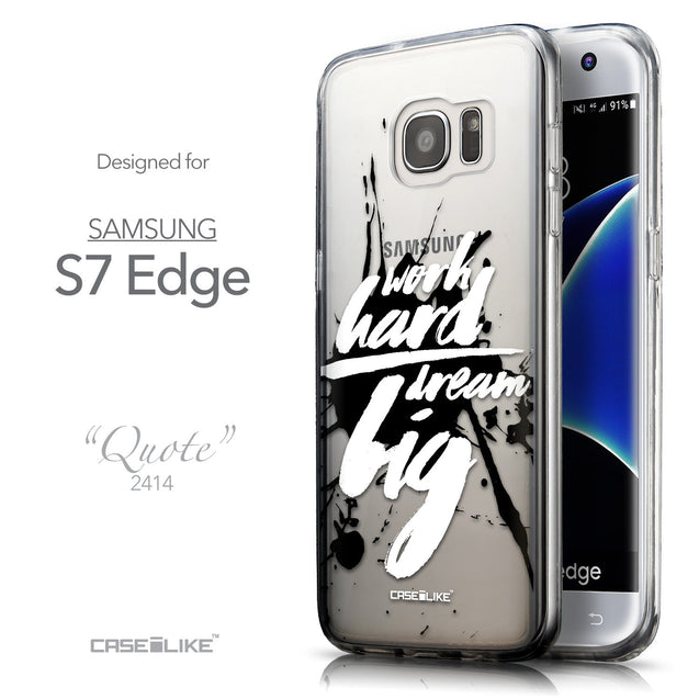 Front & Side View - CASEiLIKE Samsung Galaxy S7 Edge back cover Quote 2414